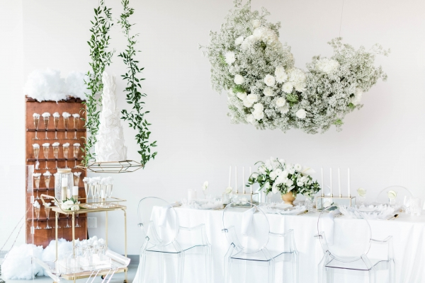 All White Cloud Wedding Inspiration