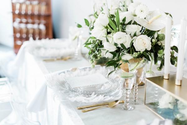 Wedding Centerpiece Green and Gold
