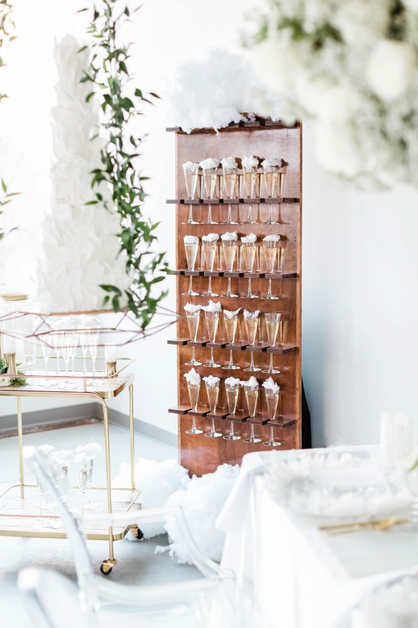 Champagne Wall for Wedding
