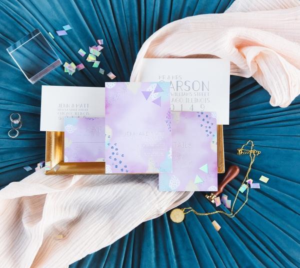 Colorful Iridescent Futuristic Chicago Wedding Inspiration (22)