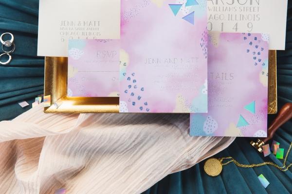 Colorful Iridescent Futuristic Chicago Wedding Inspiration (27)