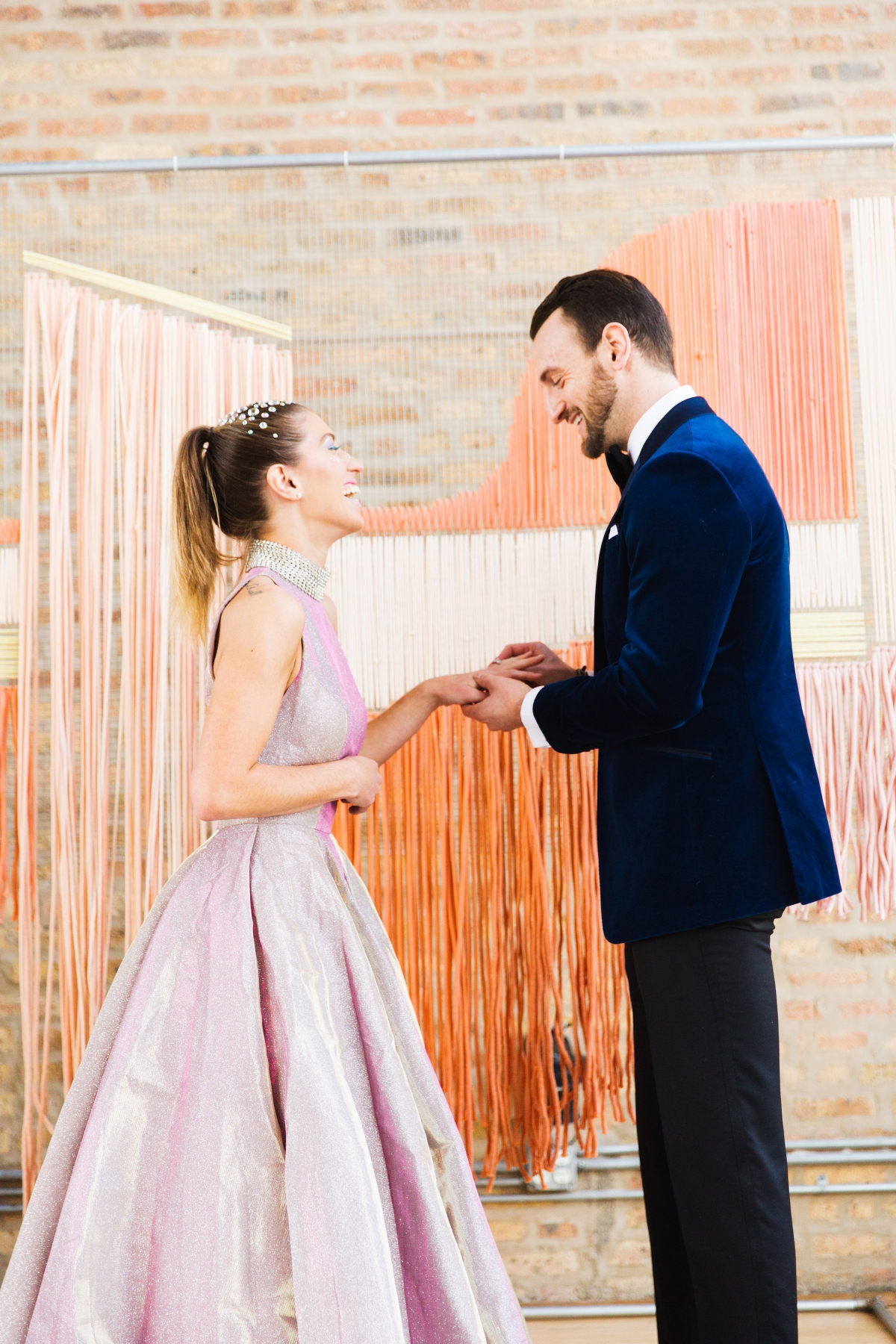 Colorful Iridescent Futuristic Chicago Wedding Inspiration 42