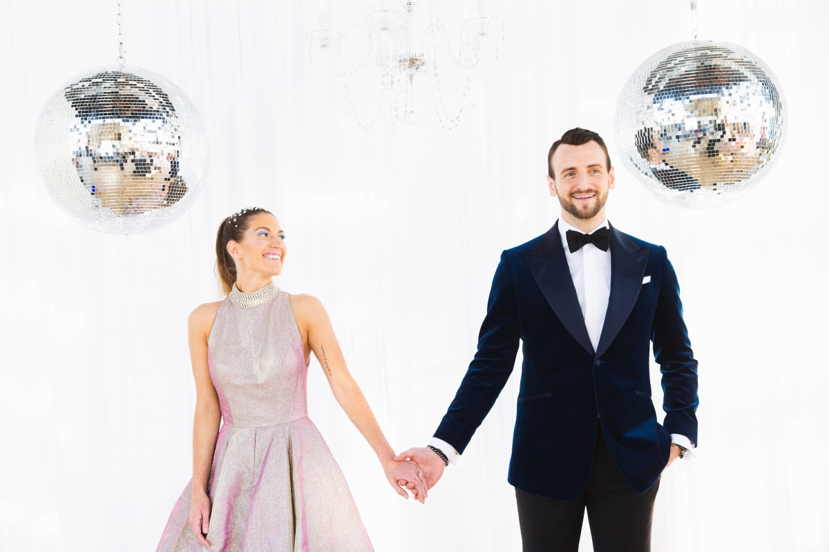 Colorful Iridescent Futuristic Chicago Wedding Inspiration 58