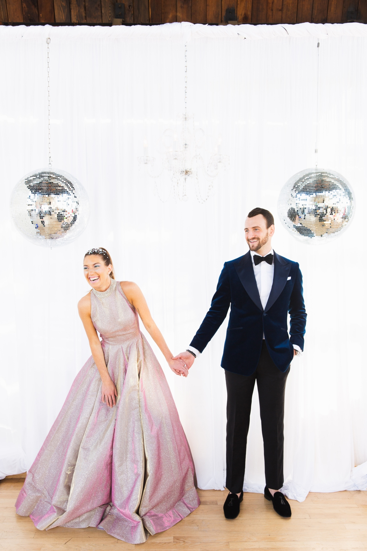 Colorful Iridescent Futuristic Chicago Wedding Inspiration 59