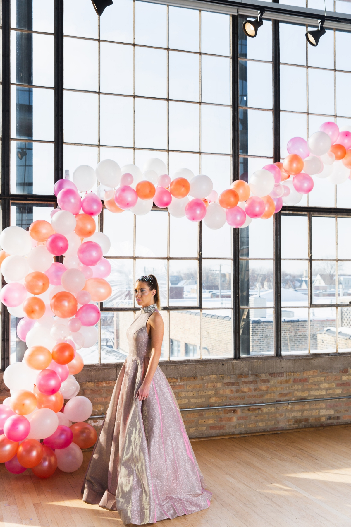 Colorful Iridescent Futuristic Chicago Wedding Inspiration 75