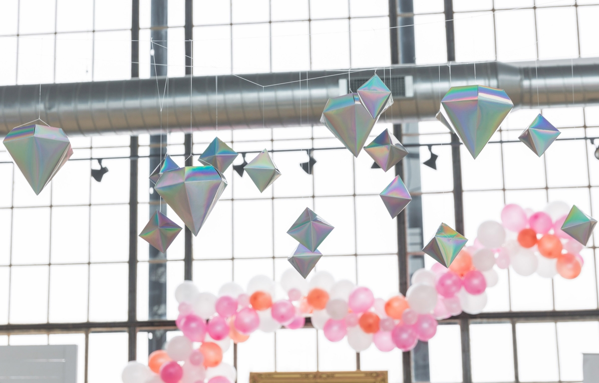 Colorful Iridescent Futuristic Chicago Wedding Inspiration 81