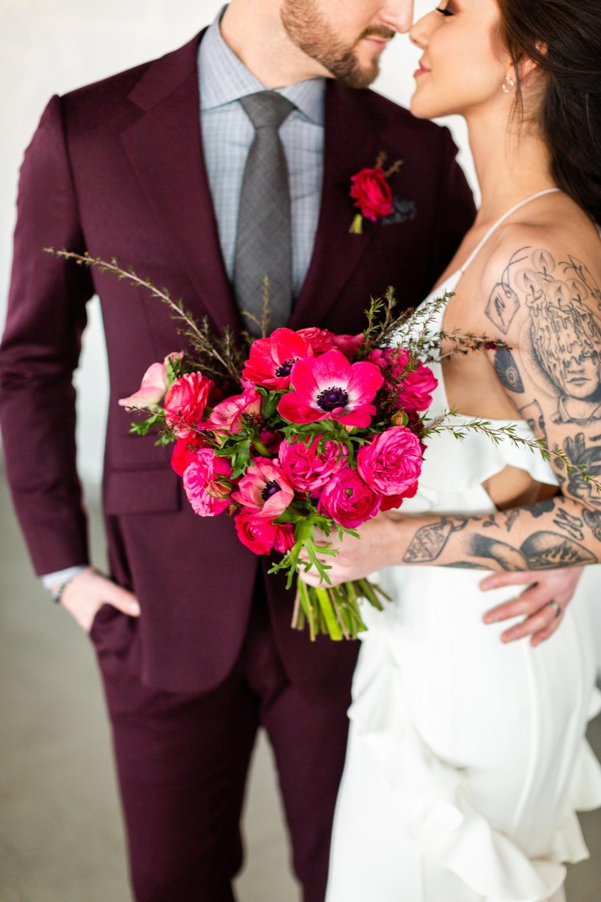Edgy Romance Chicago Wedding Inspiration Alexandra Lee Photography Lakeshore in Love 236