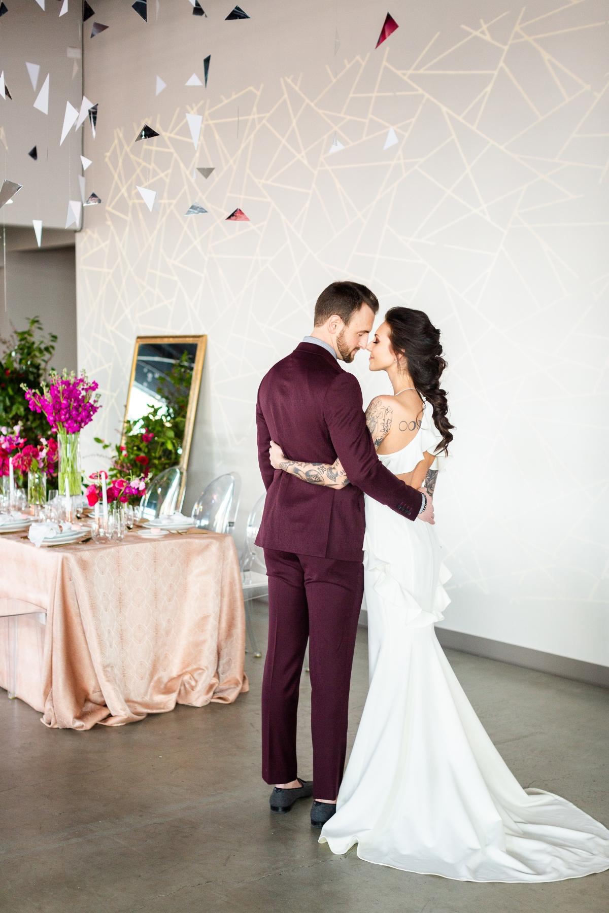 Edgy Romance Chicago Wedding Inspiration Alexandra Lee Photography Lakeshore in Love 256