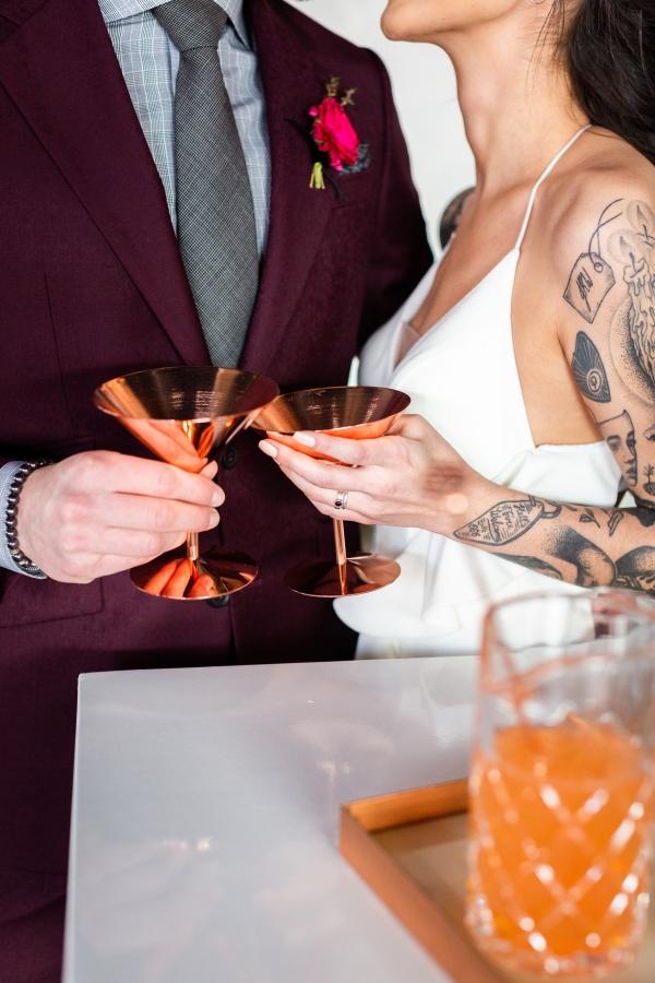 Edgy Romance Chicago Wedding Inspiration Alexandra Lee Photography Lakeshore in Love (268)
