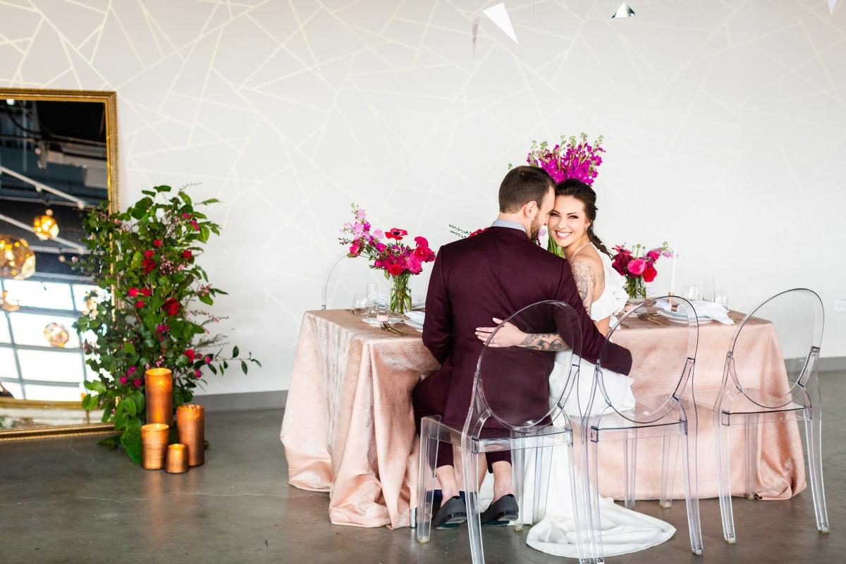 Edgy Romance Chicago Wedding Inspiration Alexandra Lee Photography Lakeshore in Love 273