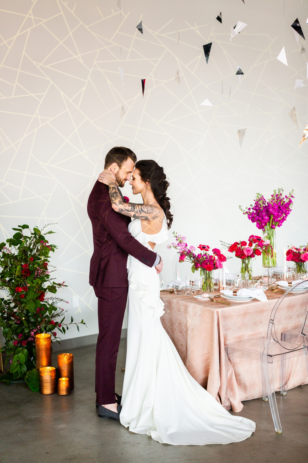 Edgy Romance Chicago Wedding Inspiration Alexandra Lee Photography Lakeshore in Love (275)