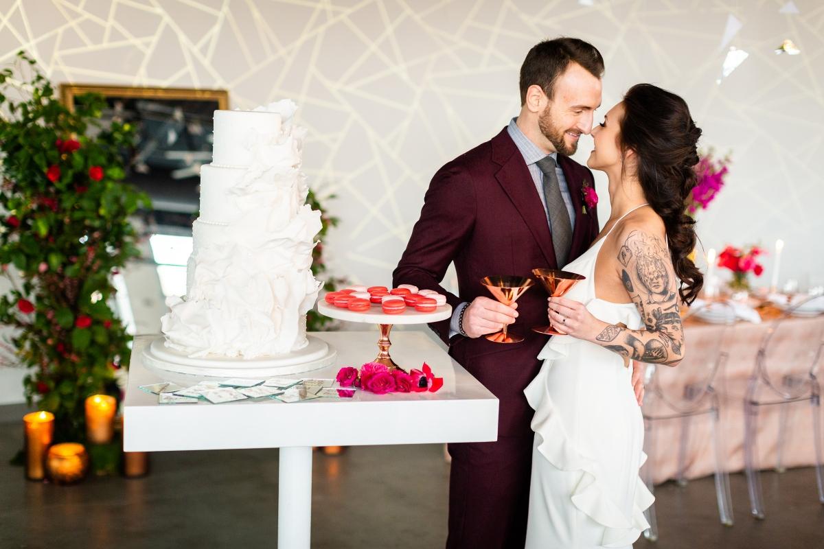 Edgy Romance Chicago Wedding Inspiration Alexandra Lee Photography Lakeshore in Love 302