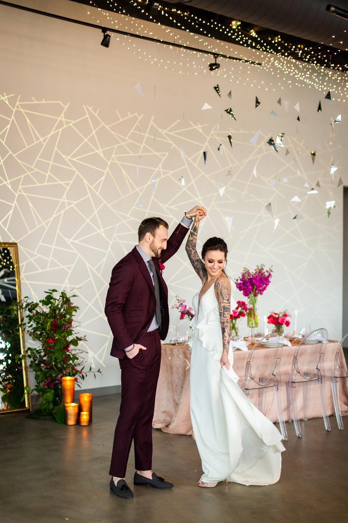 Edgy Romance Chicago Wedding Inspiration Alexandra Lee Photography Lakeshore in Love 303
