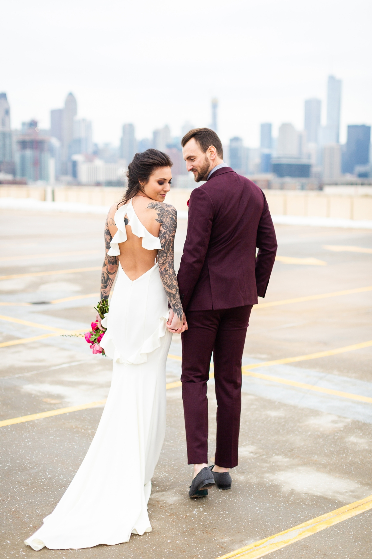 Edgy Romance Chicago Wedding Inspiration Alexandra Lee Photography Lakeshore in Love 317