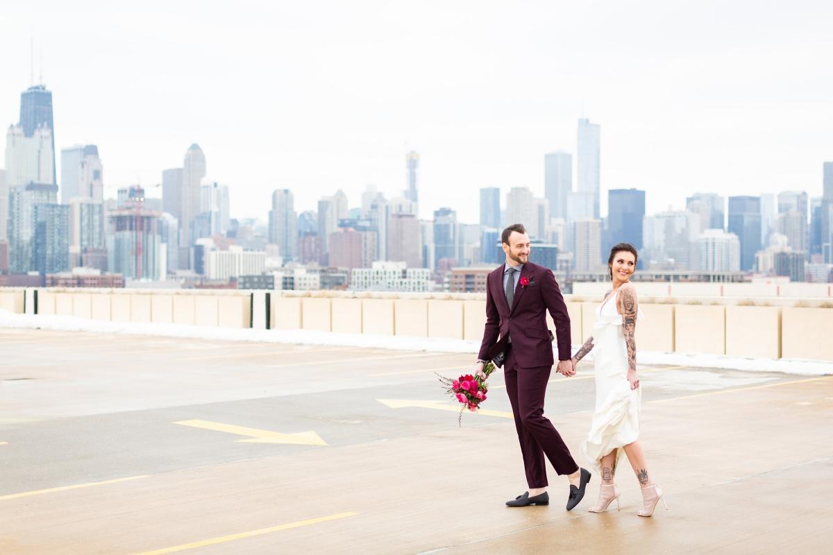 Edgy Romance Chicago Wedding Inspiration Alexandra Lee Photography Lakeshore in Love 323