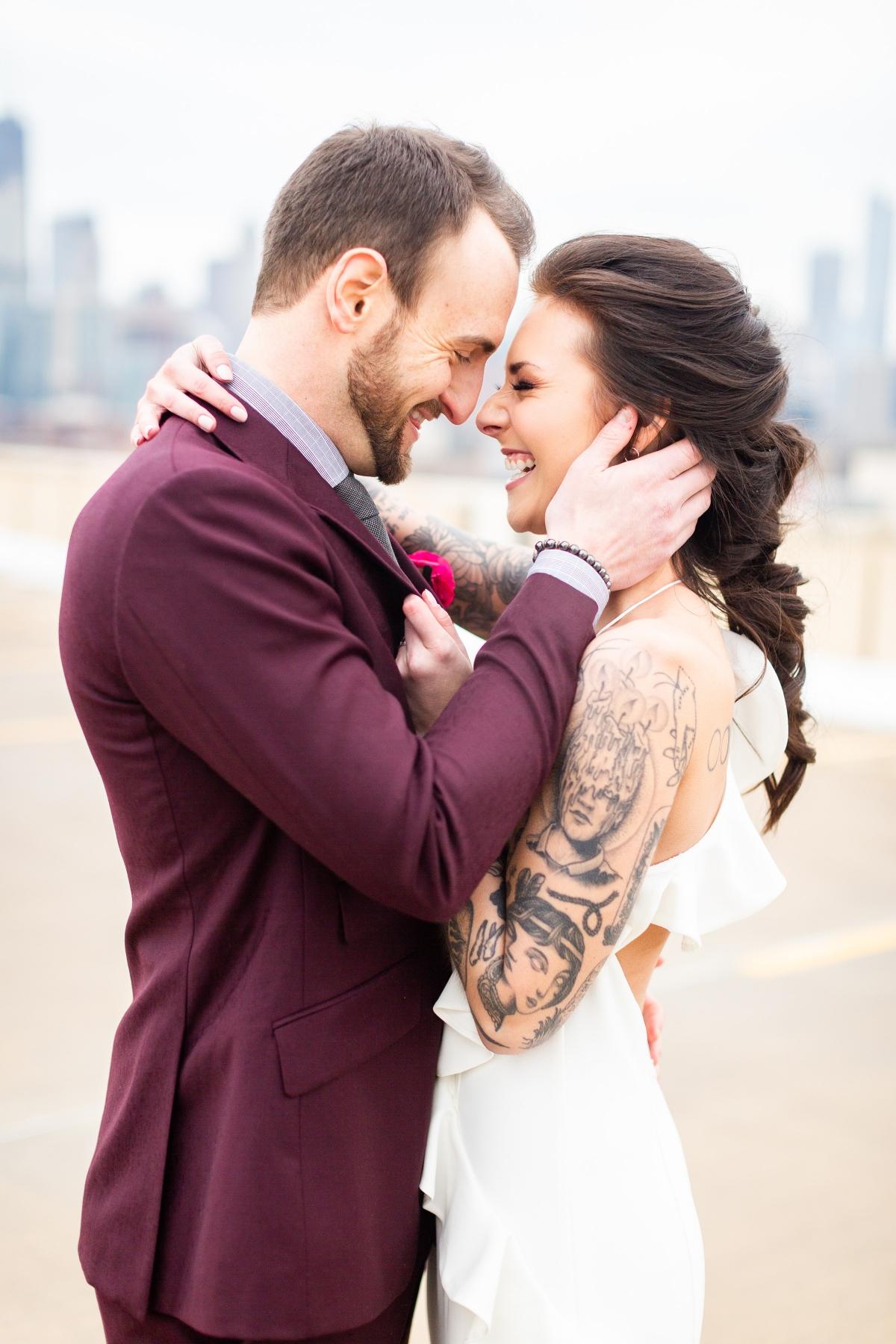 Edgy Romance Chicago Wedding Inspiration Alexandra Lee Photography Lakeshore in Love 332