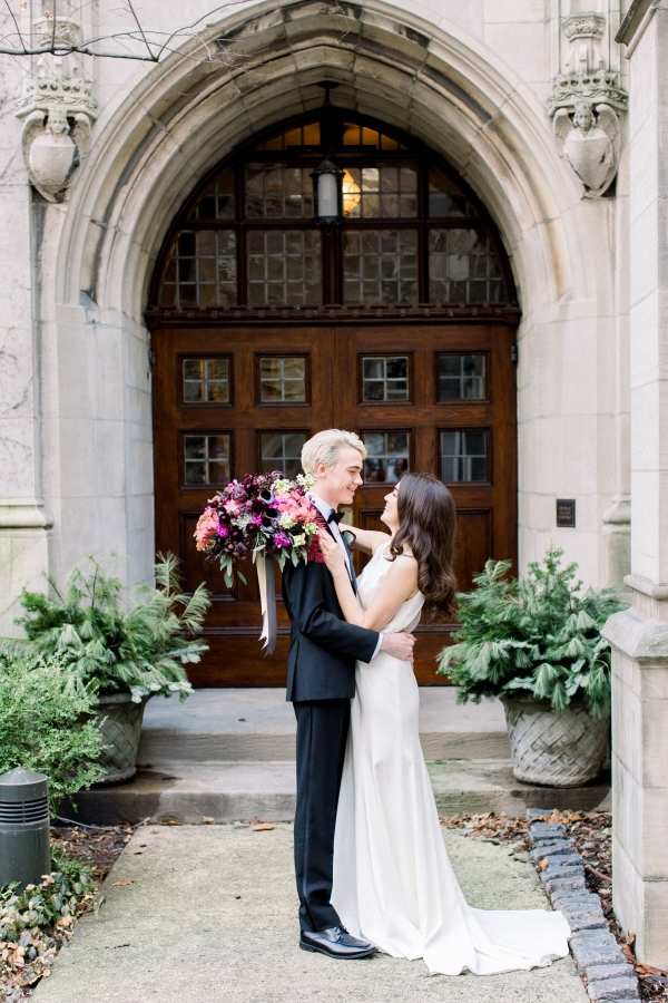 Fuchsia and Plum Chicago Jewel Tone Wedding Inspiration Lisa Hufford (10)