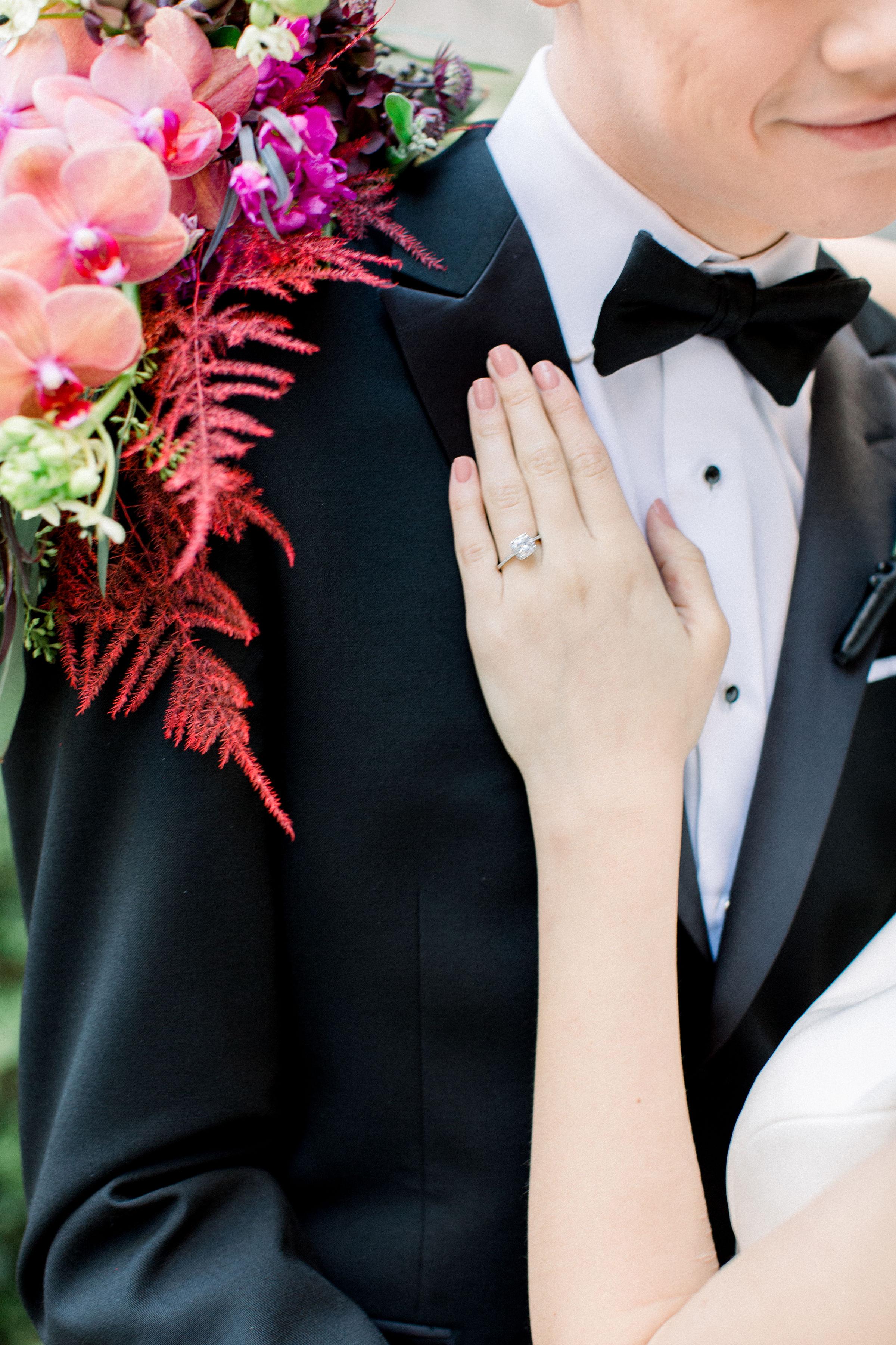 Fuchsia and Plum Chicago Jewel Tone Wedding Inspiration Lisa Hufford (11)