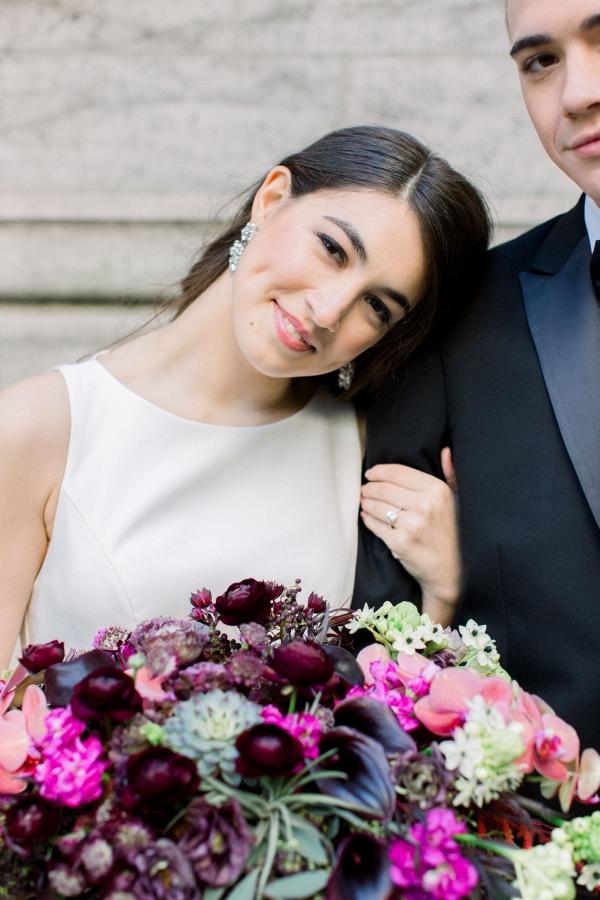 Fuchsia and Plum Chicago Jewel Tone Wedding Inspiration Lisa Hufford (12)