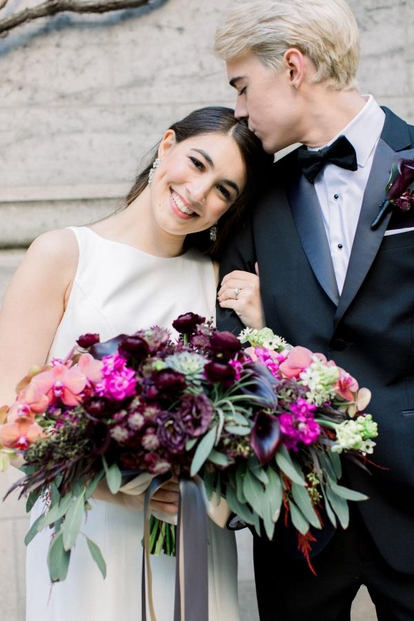 Fuchsia and Plum Chicago Jewel Tone Wedding Inspiration Lisa Hufford (13)