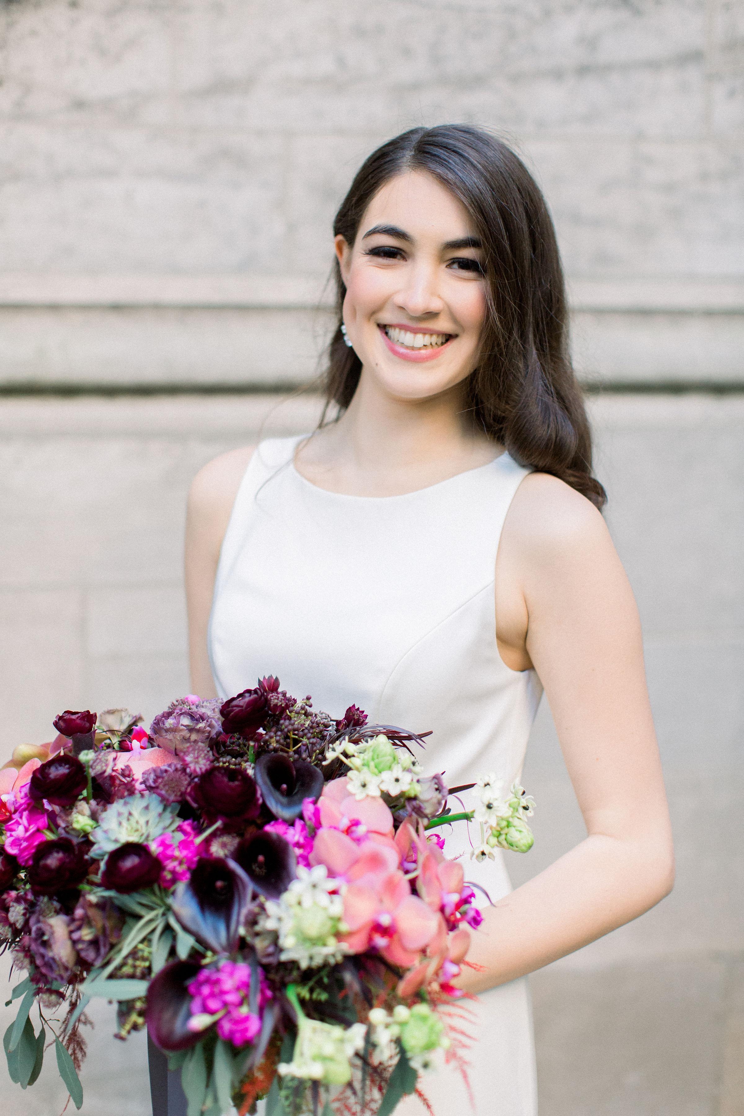 Fuchsia and Plum Chicago Jewel Tone Wedding Inspiration Lisa Hufford (14)