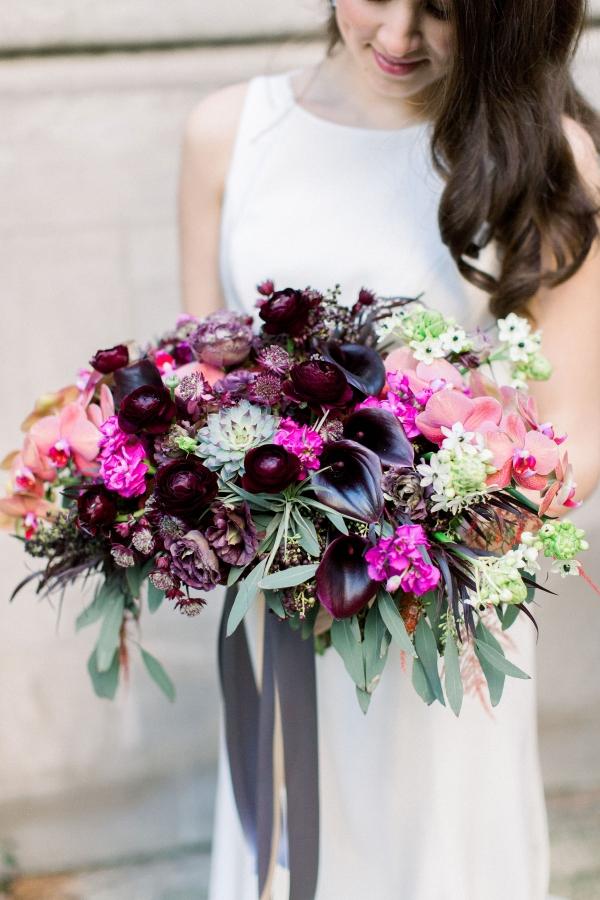 Fuchsia and Plum Chicago Jewel Tone Wedding Inspiration Lisa Hufford (15)