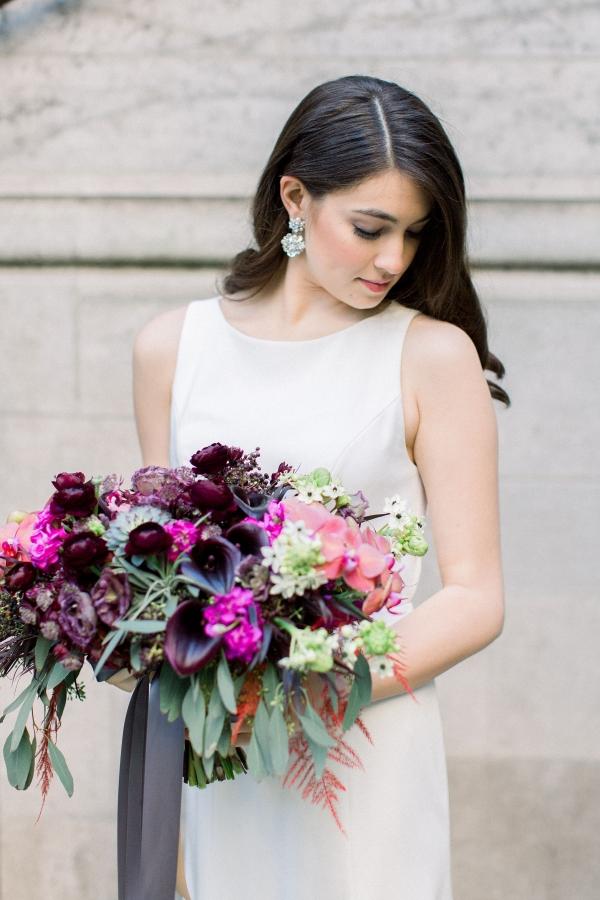 Fuchsia and Plum Chicago Jewel Tone Wedding Inspiration Lisa Hufford (16)