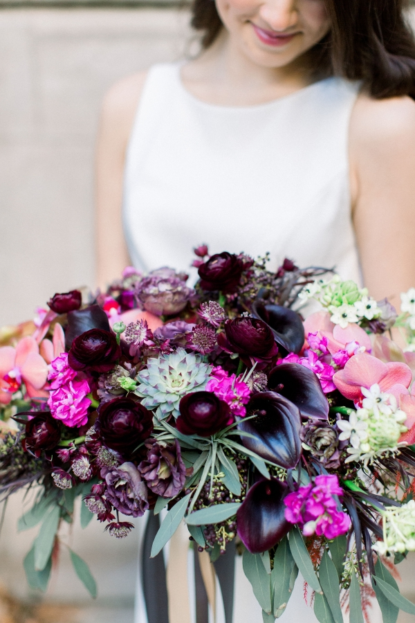 Fuchsia and Plum Chicago Jewel Tone Wedding Inspiration Lisa Hufford (17)