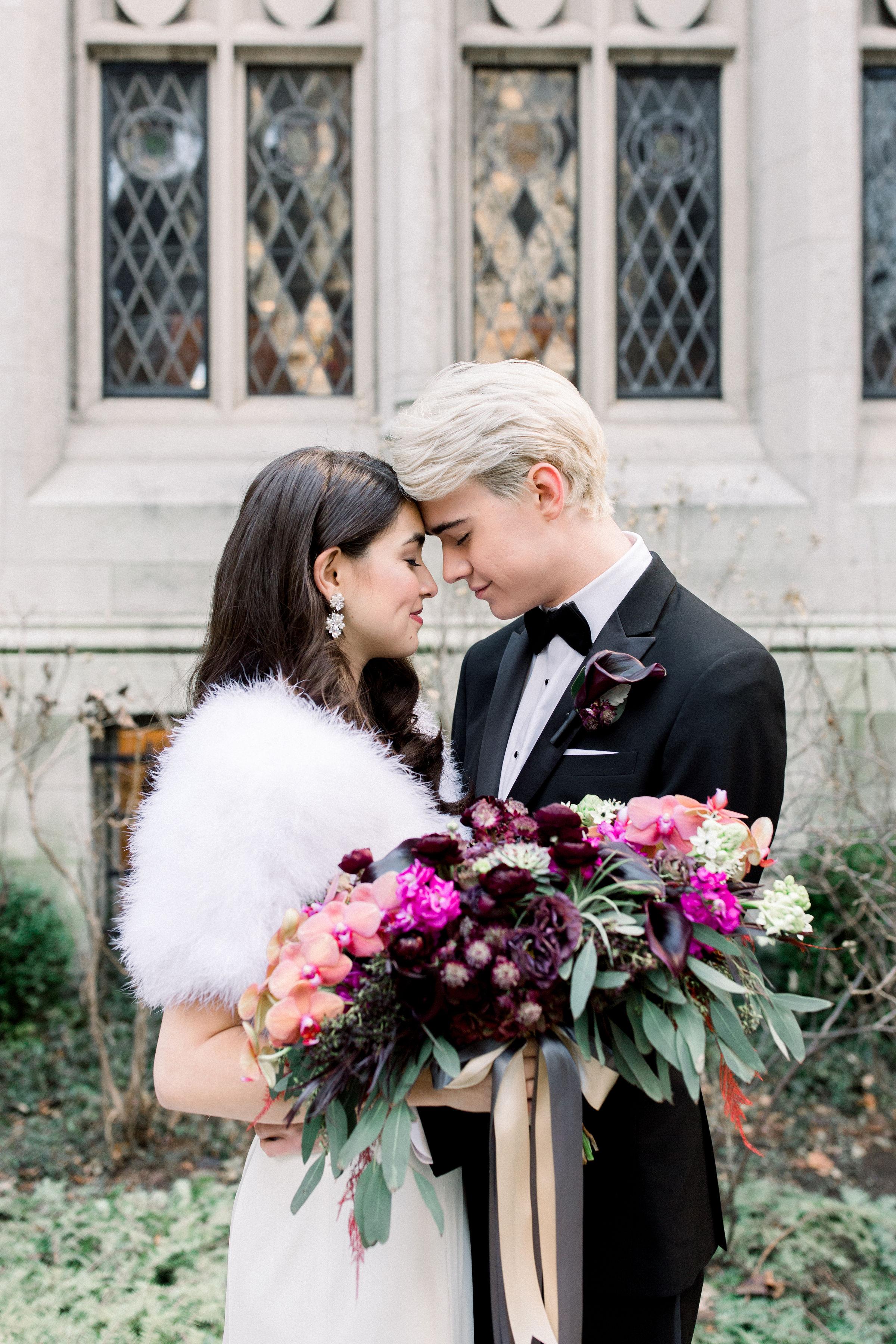 Fuchsia and Plum Chicago Jewel Tone Wedding Inspiration Lisa Hufford (2)