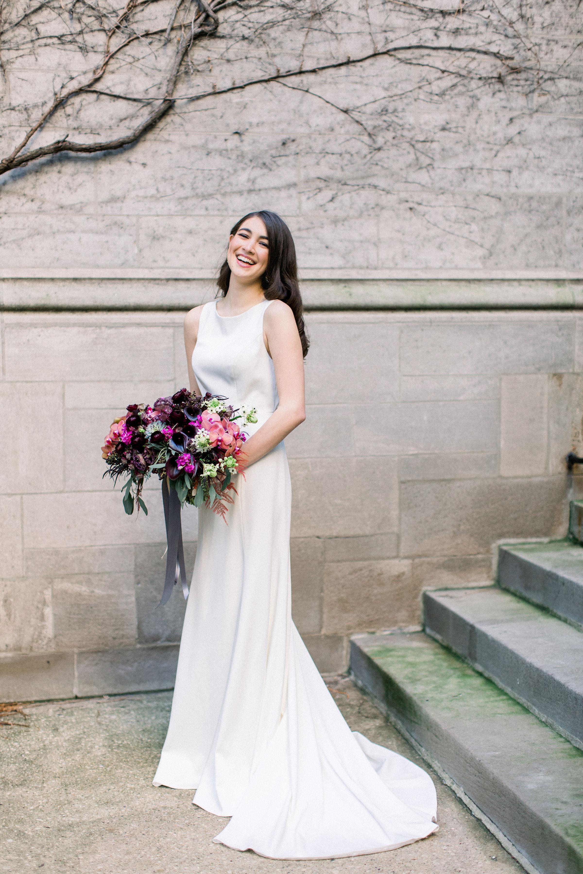 Fuchsia and Plum Chicago Jewel Tone Wedding Inspiration Lisa Hufford (20)