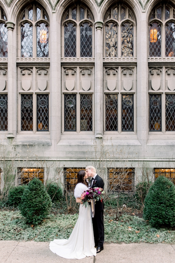 Fuchsia and Plum Chicago Jewel Tone Wedding Inspiration Lisa Hufford (22)