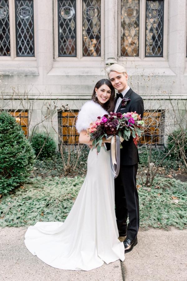 Fuchsia and Plum Chicago Jewel Tone Wedding Inspiration Lisa Hufford (23)