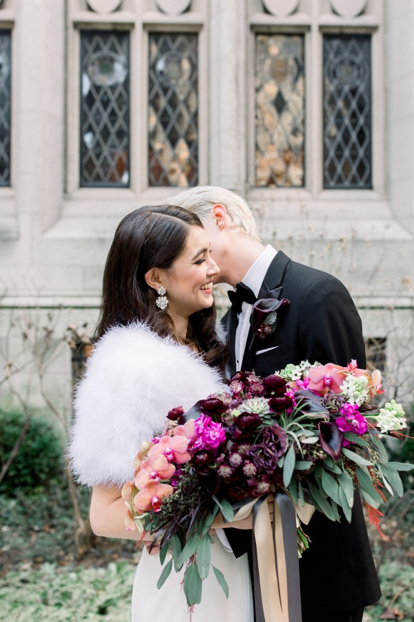 Fuchsia and Plum Chicago Jewel Tone Wedding Inspiration Lisa Hufford (24)