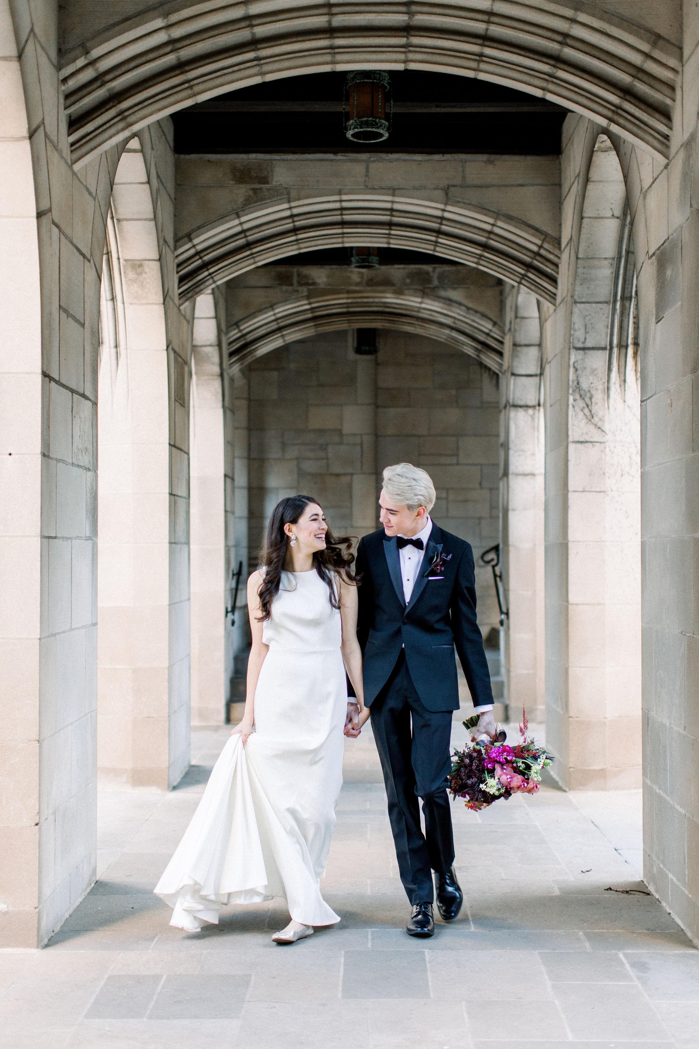 Fuchsia and Plum Chicago Jewel Tone Wedding Inspiration Lisa Hufford (26)