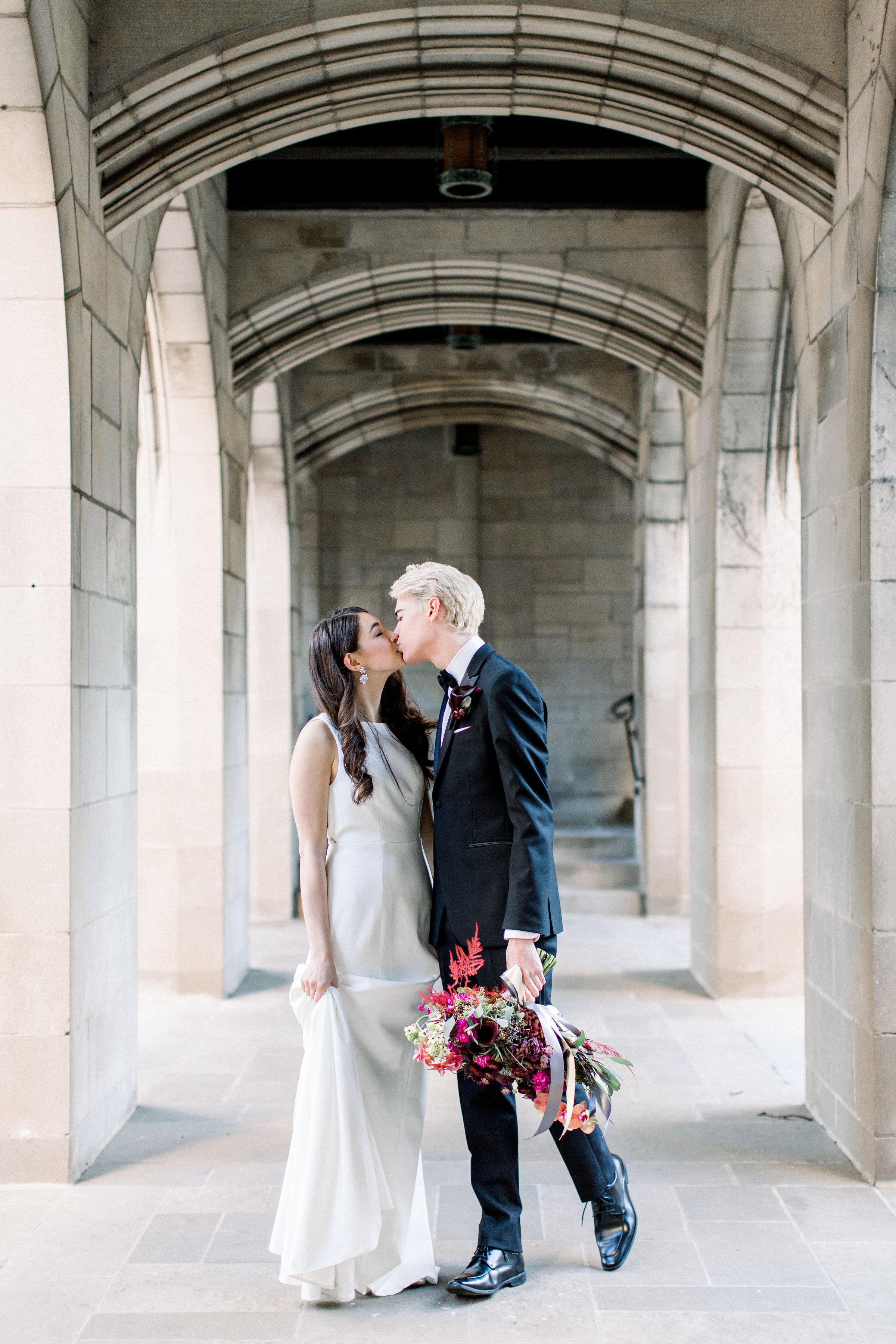 Fuchsia and Plum Chicago Jewel Tone Wedding Inspiration Lisa Hufford (27)