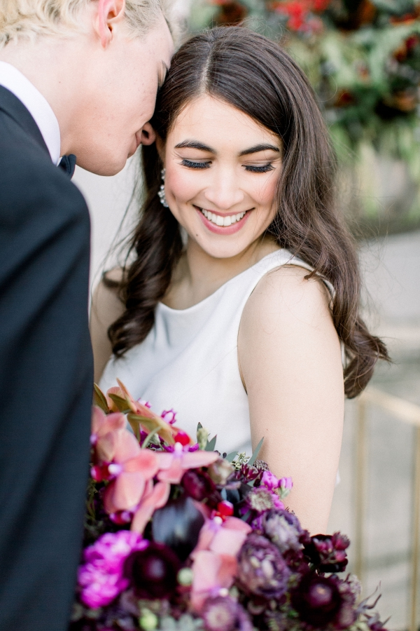 Fuchsia and Plum Chicago Jewel Tone Wedding Inspiration Lisa Hufford (29)