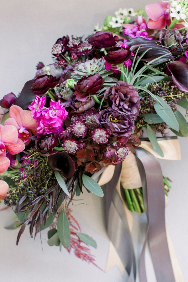 Fuchsia and Plum Chicago Jewel Tone Wedding Inspiration Lisa Hufford (3)