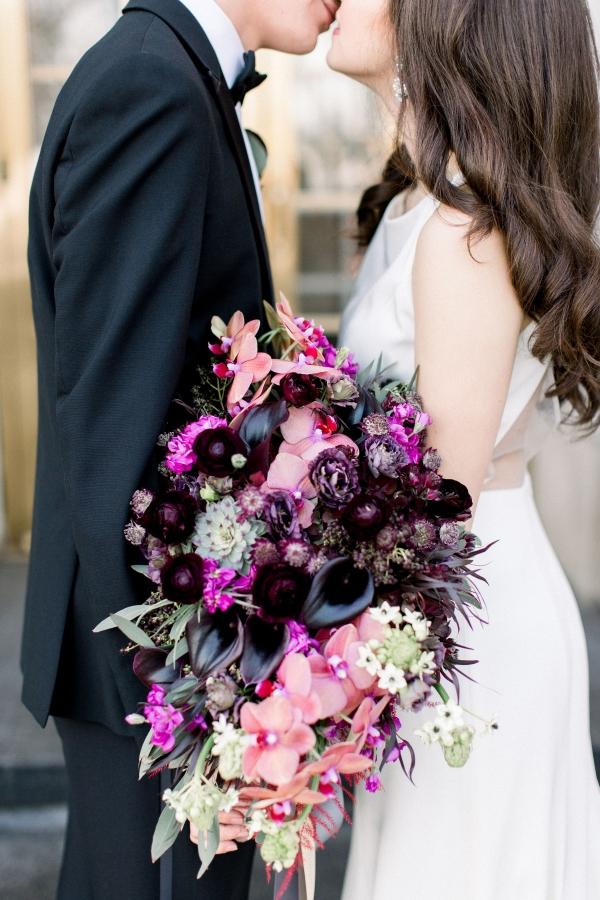 Fuchsia and Plum Chicago Jewel Tone Wedding Inspiration Lisa Hufford (30)