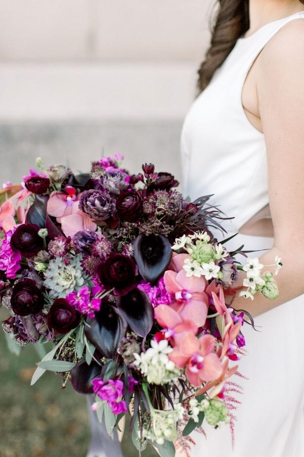 Fuchsia and Plum Chicago Jewel Tone Wedding Inspiration Lisa Hufford (35)