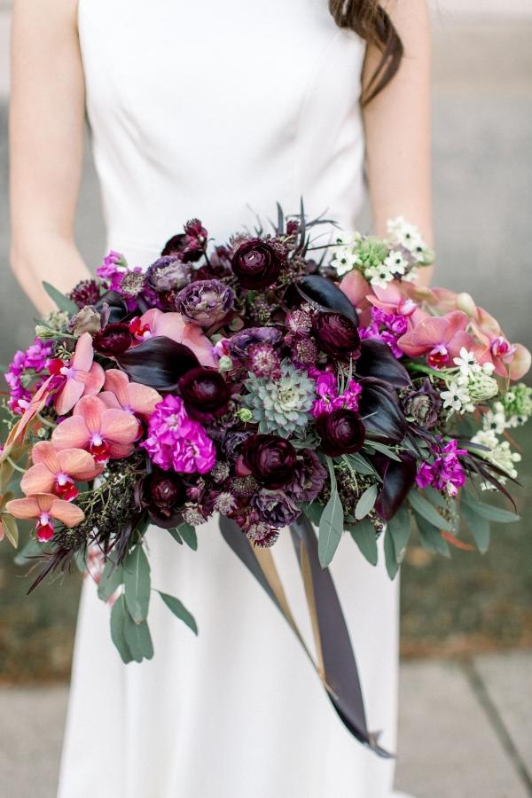 Fuchsia and Plum Chicago Jewel Tone Wedding Inspiration Lisa Hufford (36)