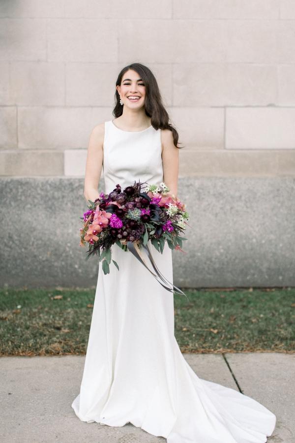 Fuchsia and Plum Chicago Jewel Tone Wedding Inspiration Lisa Hufford (37)