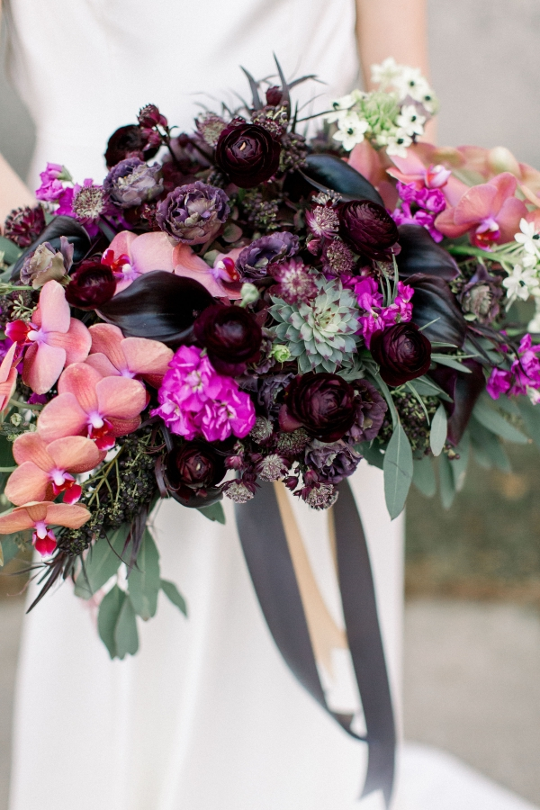 Fuchsia and Plum Chicago Jewel Tone Wedding Inspiration Lisa Hufford (38)