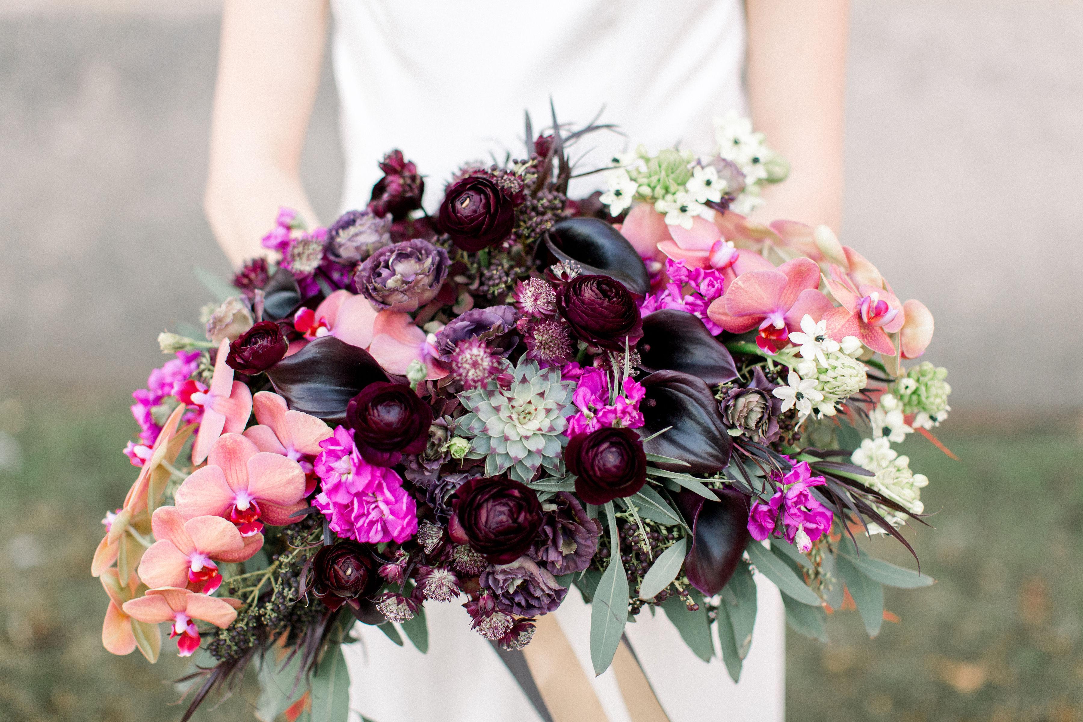 Fuchsia and Plum Chicago Jewel Tone Wedding Inspiration Lisa Hufford (39)