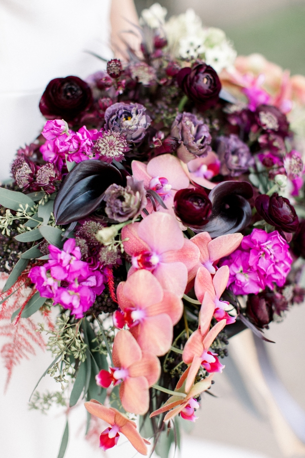 Fuchsia and Plum Chicago Jewel Tone Wedding Inspiration Lisa Hufford (40)
