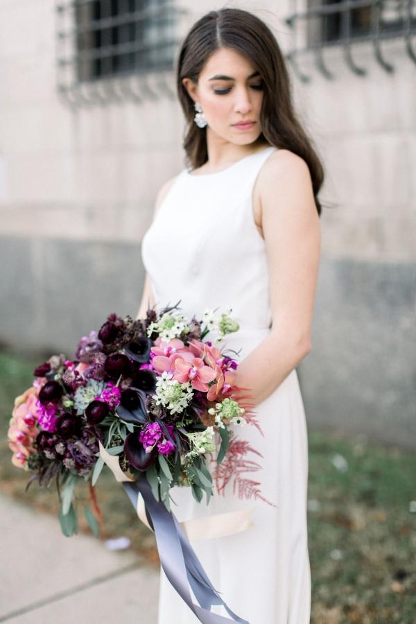 Fuchsia and Plum Chicago Jewel Tone Wedding Inspiration Lisa Hufford (42)