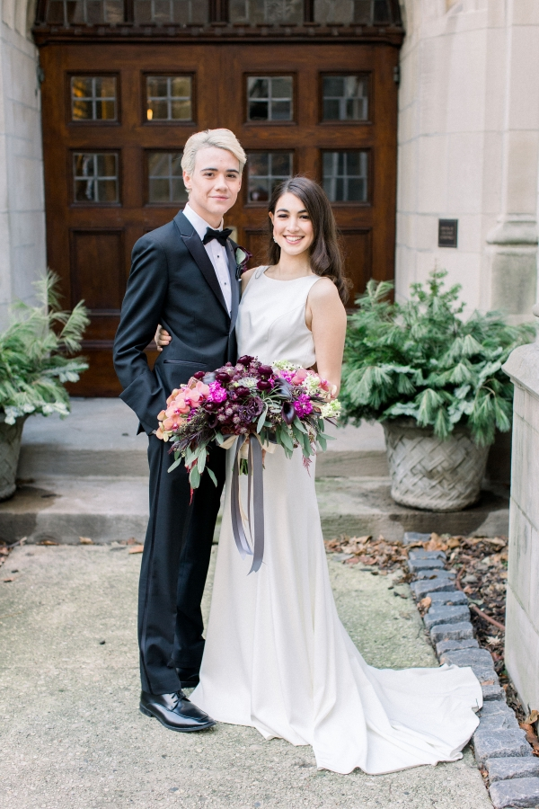 Fuchsia and Plum Chicago Jewel Tone Wedding Inspiration Lisa Hufford (5)