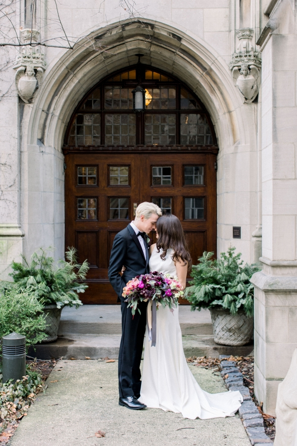 Fuchsia and Plum Chicago Jewel Tone Wedding Inspiration Lisa Hufford (7)