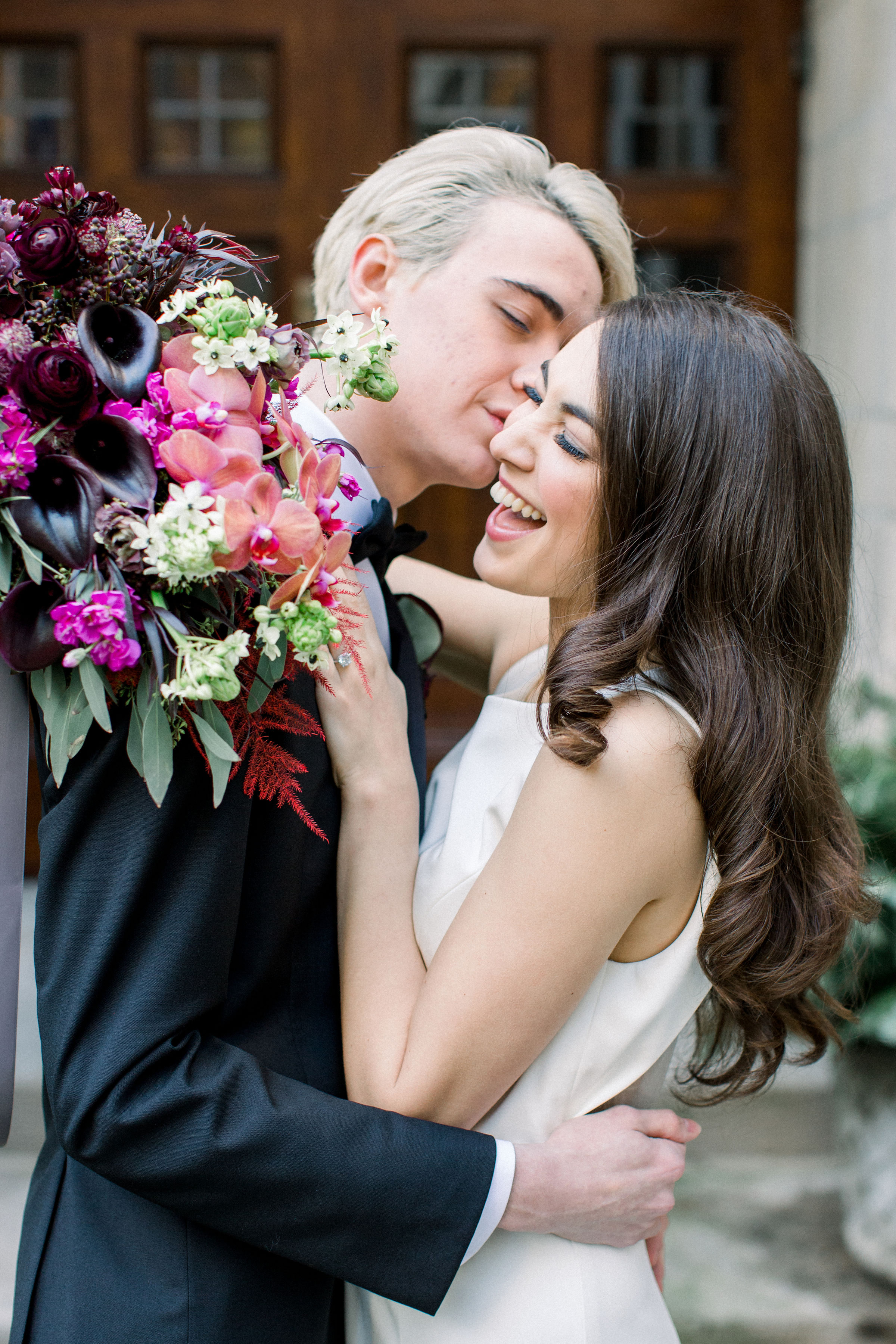 Fuchsia and Plum Chicago Jewel Tone Wedding Inspiration Lisa Hufford (8)