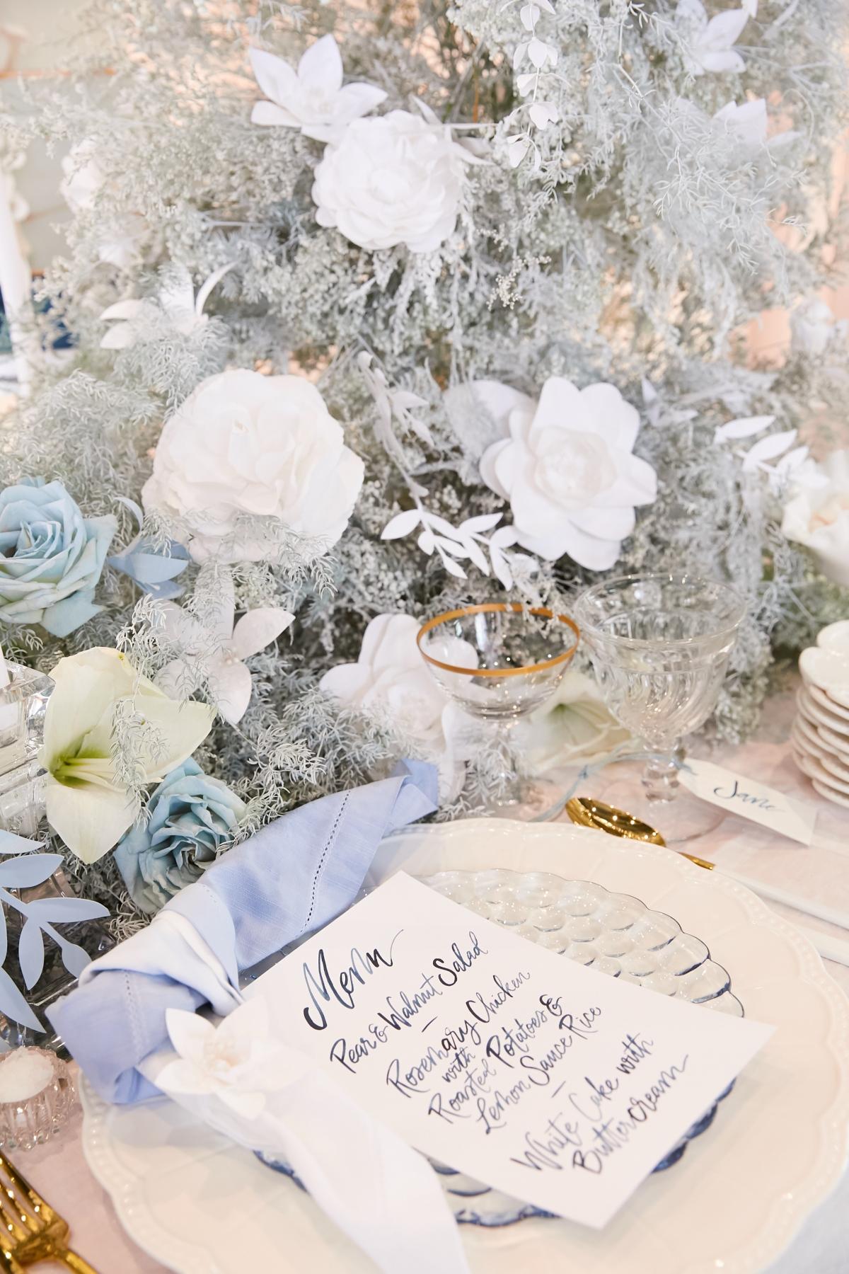 Ombre Blue Chicago Loft Wedding Inspiration 31