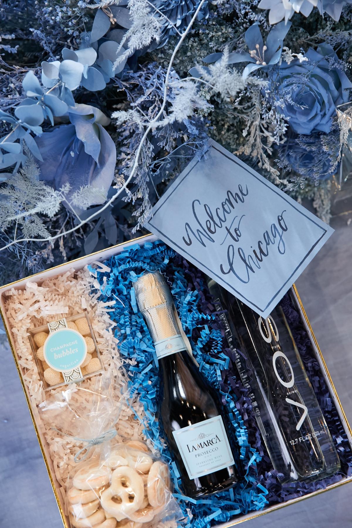 Ombre Blue Chicago Loft Wedding Inspiration 40
